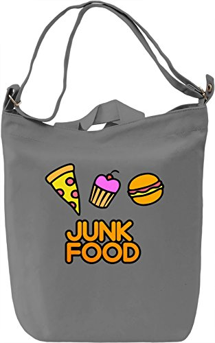 Junk Food Borsa Giornaliera Canvas Canvas Day Bag| 100% Premium Cotton Canvas| DTG Printing|