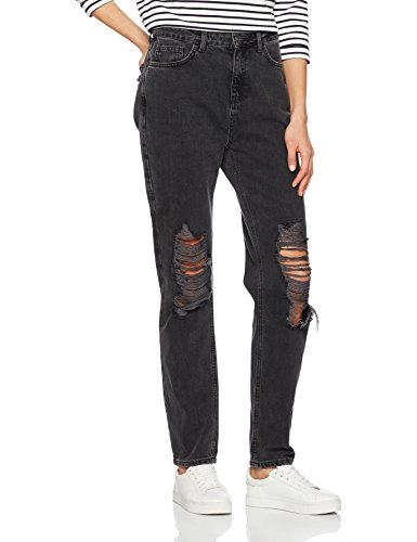 Dritta Mom Gamba Tall A anthrazit Grigio New Square Jeans Look Rip Donna I0a6w8Hq
