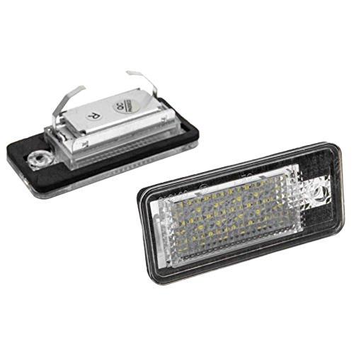 Alftek 2 Pcs//Set Car Led Lamp License Nummer Plate Lights for Audi Canbus A3 S3 A4 B6 B7 A6 S6 A8 RS4