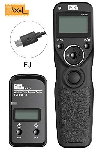 PIXEL Digital Wireless SLR Shutter Cord Release Remote Control Timer for Fujifilm GFX 50S X-Pro2 X-T2 X-T20 X-T1 X-T10 X-E3 X-E2S X-E2 X-M1 X-A3 X-A2 X-A1 X-A10 X-E2S X100F X100T X70 X30 XQ2