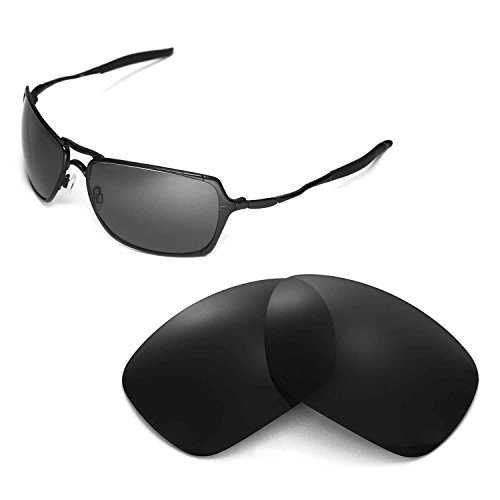 Walleva Replacement Lenses for Oakley Inmate Sunglasses - Multiple Options Available (Black - - Inmate Sunglasses