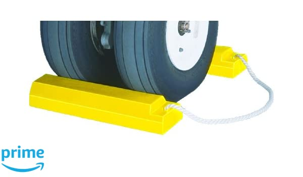 Yellow 5.5-Inch Length x 4.5-Inch Width x 2.75-Inch H Checkers AC201 Urethane Lightweight Commercial Aviation Wheel Chock