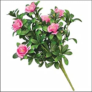 Outdoor Artificial Pink Azalea Bush 45