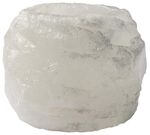 Himalaya Salt Dreams 4041678003050聽Salt Crystal Tea Light Holder. Approx. 400g. White.
