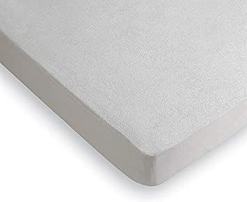 RAFITEXTIL - Protector COLCHON Rizo PVC 16 micras Medida 150x200 CM Blanco: Amazon.es: Hogar
