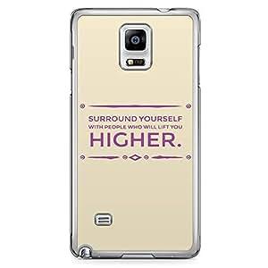 Samsung Note 4 Transparent Edge Phone Case Yourself Phone Case Friends Phone Case Motivation Phone Case Her 2D Note 4 Cover with Transparent Frame