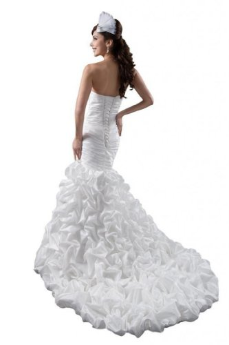 Dresses Trumpet Court Train Ivory Dearta Sweetheart Women's Wedding Mermaid BEzwWq0vO