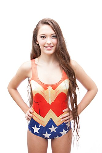JealousyJane Swimsuit pinup Wonderwoman Superhero costume swimwear