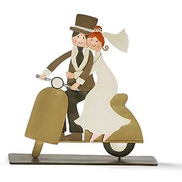 Unbekannt Brautpaar Auf Vespa Hochzeitspaar Hochzeit Wedding