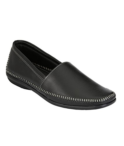 3a7e75a69b760 Men Black Colour Leather loafer Shoes With Heavy sole (IMF5035_BLK-12)