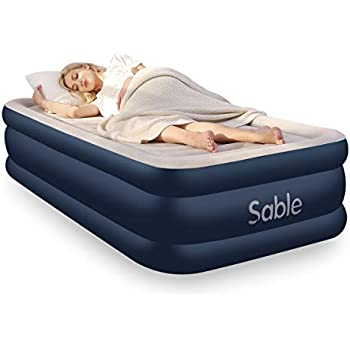 Amazon.com: Colchón hinchable Sable de tamaño doble y ...