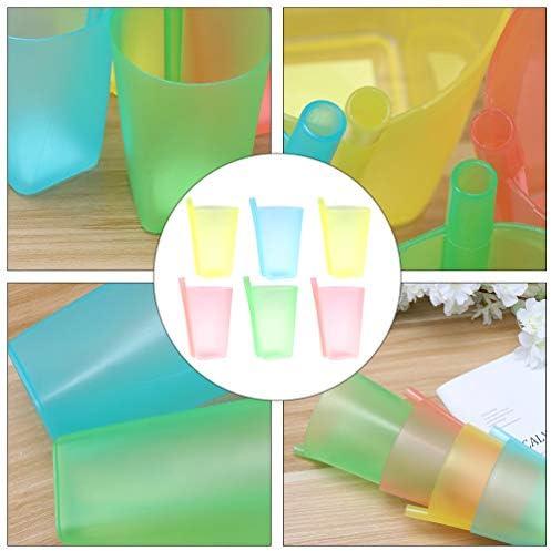 luosh Tazze di Alimentazione per lapprendimento del Bambino Morbido Silicone Resistente alle Cadute per Bambini e Bambini Bicchieri con coperchi in Silicone Solido