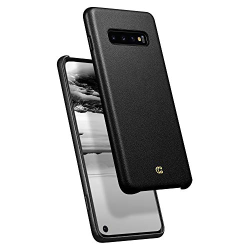 Basic Leather Plain - Ciel by CYRILL [Basic Leather Collection] Designed for Samsung Galaxy S10 (2019) Case - Black