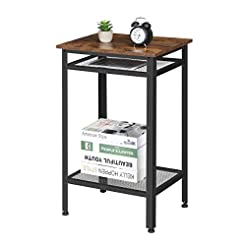 KingSo Industrial Side Table, End Teleph...