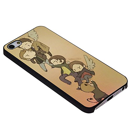 Cartoon Supernatural Character Laser Technology For iPhone Case (iPhone 5c black) (Cartoons Characters)
