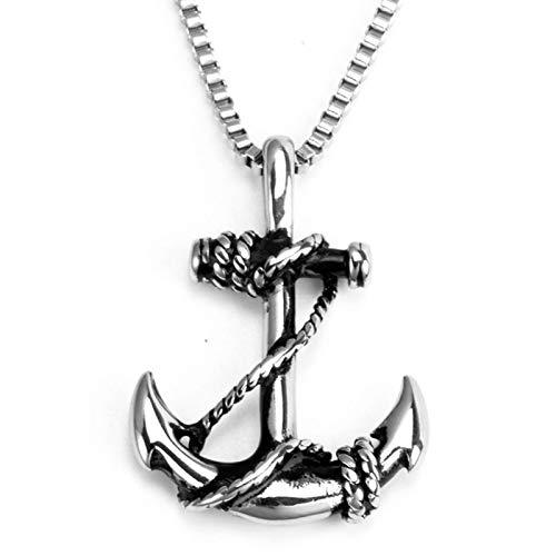 YDMSGSB Collar Colgante De Acero Inoxidable Ancla Pirata ...