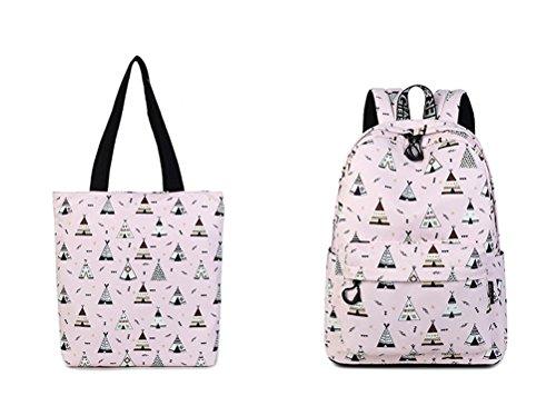 à haute filles de dos sac pouces bleu imperméable d'impression Winnerbag portable capacité 14 Pink Bookbags motif Fashion femmes Chambre ensemble mignon set collège zwqZtA