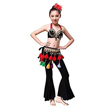 1109d7c4d65798 Belly Dance Outfits Children s Performance American tribal style  Modal Beading   Coins Tassel(