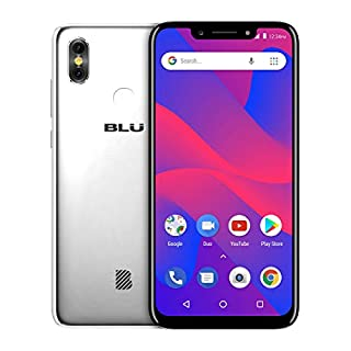 "BLU R2 Plus 2019-6.2"" HD+ Display Smartphone, 16GB+2GB RAM –Silver (Renewed)"