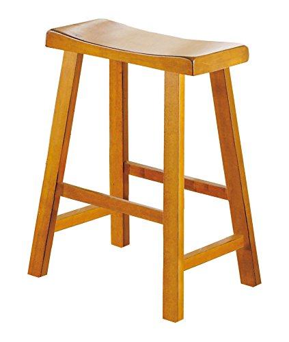 Oak Saddle Seat Bar Stool (Homelegance 5302A-24 Saddleback 24-Inch Barstool)