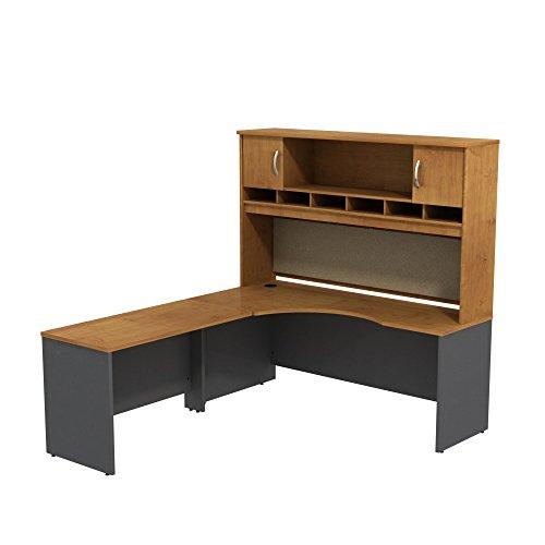 Bush Business Furniture Series C 72W LH Corner L-Desk with 72W 2-Door Hutch
