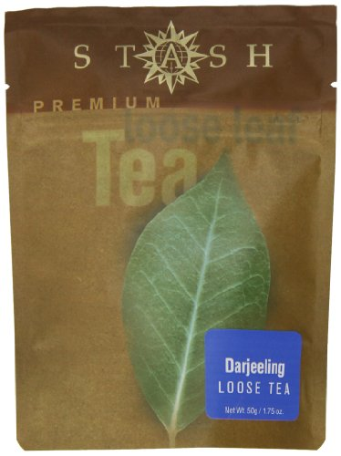 Stash Tea Company Darjeeling Loose Leaf Tea 1.75 Ounce Pouches (Pack of 3) Loose Leaf Premium Black Tea for Use with Tea Infusers Tea Strainers or Teapots, Drink Hot or Iced, Sweetened or Plain
