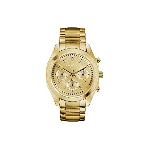Caravelle Women's Quartz Watch with Stainless-Steel Strap, Gold, 18.5 (Model: 44L238)