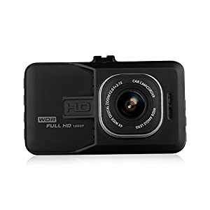 Binwo Dashboard Camera Recorder, FHD 1080P Car Dash Cam Camcorder, 170 Wide Angle Black Box Video Recorder Car DVR Camera with G-Sensor, Loop Recordin