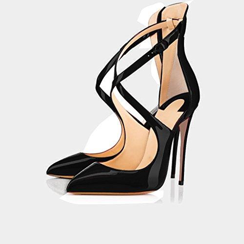 Fibbia Edefs chiusa chiusa caviglia da punta Punta donna nera punta con Pompe a con Chiusura fibbia HBwqHtnr