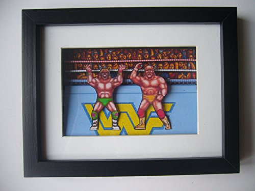 WWF Wrestlefest Hogan VS Warrior 3D Shadow Box Diorama Art by 8 Bit Boutique