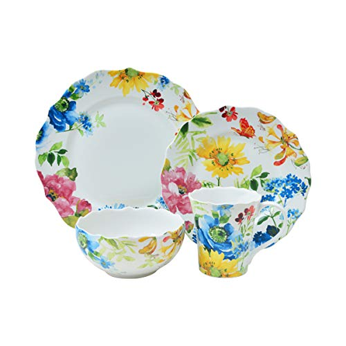 Annalise Spring Mixed 16 Piece Dinnerware Set ()