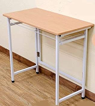 InnoFur Aplos Folding Desk with Shelf (Beige)