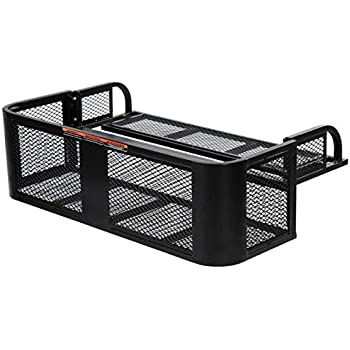 Yamaha Big Bear//Bruin//Grizzly//Kodiak 3//4 inch Square Tubing Front Racks Powder Coated Wrinkle Black By Strong Made 227-W