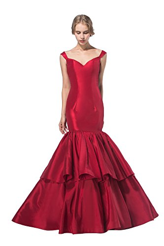 AISLE STYLE Modern Off Shoulder Mermaid Long Ruffled Evening Dress by AISLE STYLE