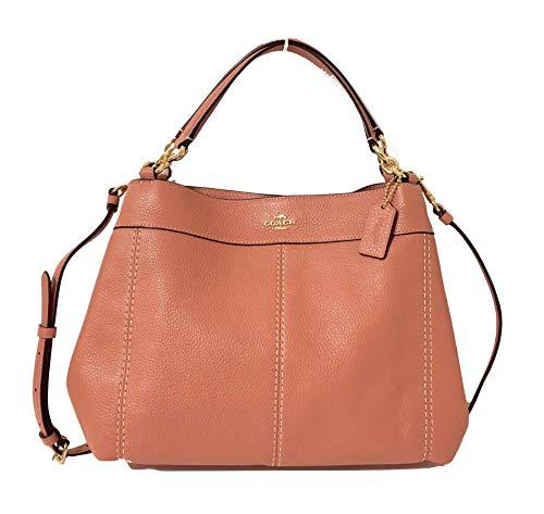Coach Pebbled Leather Small Lexy Shoulder Bag Handbag (IM/Melon)