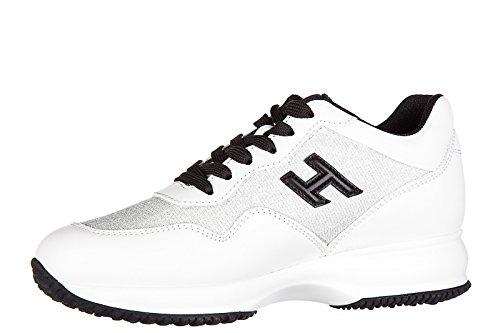 Sneakers Turnschuhe Wei Leder Damenschuhe Damen Schuhe interactive Hogan h3d AX8wPqx5ng