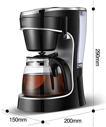 Automatische Filterkoffiemachine, Filterkoffiemachine Met Timerfunctie En Eenknopsbediening, Met Glazen Koffiekan