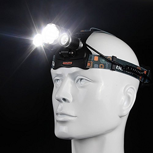 Best LED Headlamp Flashlight 10000 Lumen - IMPROVED LED with Rechargeable 18650 Battery, Bright Head Lights,Waterproof Hard Hat Light,Fishing Head Lamp,Hunting headlamp,Running or Camping headlamps … by Yhkj (Image #2)