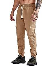 Cindeyar Herren Hosen Cargo Chino Stretch Slim fit Jeanshose Basic Jogger Sporthose Freizeithose