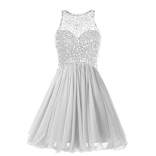 6f338810310 Meilishuo Womens Sparkly Beading Homecoming Dresses Chiffon Short Prom  Party Gowns 2017 - Buy Online in UAE.