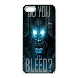 Yearinspace Batman IPhone 5,5S Cases Batman V Superman's Posters Unique for Guys, Iphone 5s Cases for Men Unique for Guys [White] by gostart by paywork