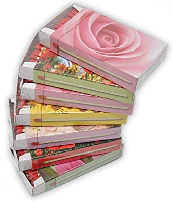 jameitop®а XL - Cajas de cerillas, diseño de Flores: 7 Paquetes de 50 cerillas de cerillas, Rosas, Amapolas, Girasoles, cerillas, cerillas, cerillas, etc.: Amazon.es: Hogar
