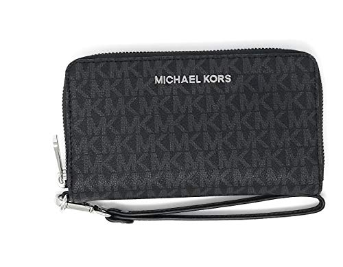 0c6869cd667f Michael Kors Jet Set Travel Large Flat Multifunction Phone Case Wristlet ( Black 2018) by