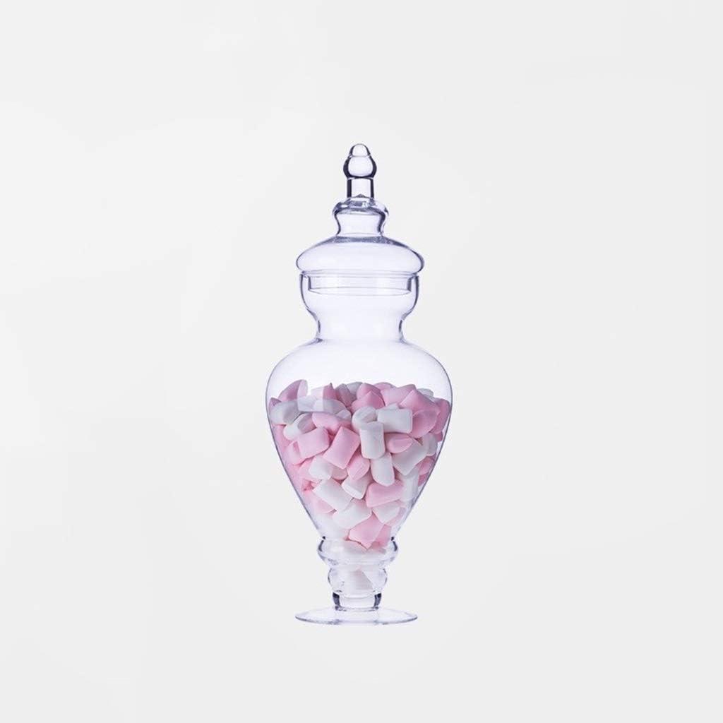 PETAAA Tarro de Cristal, latas únicas ubicadas salón de Baile de la Comida fría Botellas melcocha del Chocolate Decorado Botes En Restaurante (Color : C): Amazon.es: Hogar