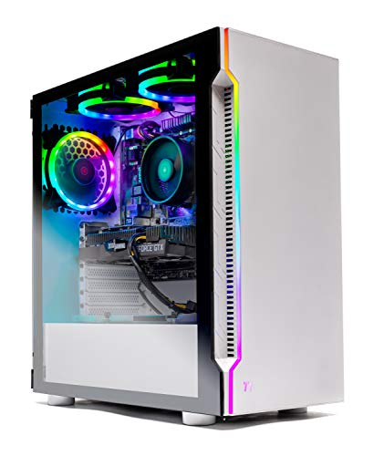 Best Selling Skytech Archangel Gaming Computer PC Desktop - RYZEN 5 2600X 6-Core 3.6 GHz, GTX 1660 6G, 500GB SSD, 16GB DDR4 3000MHz, RGB Fans, Windows 10 Home