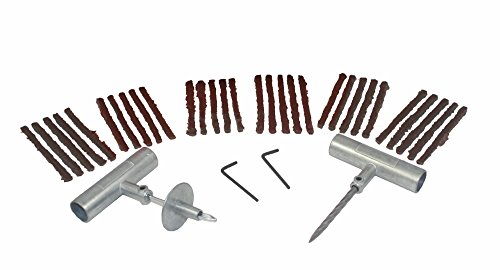 ABN Flat Tire Repair Kit, Tire Plug 34-Piece Set – Tubeless Tire Patch Kit, Tire Repair Kit – Car ATV Motorcycle Mower