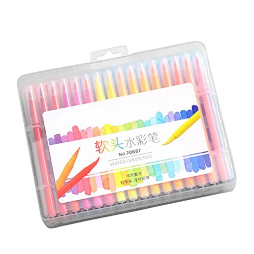 Slendima Sale! Washable Watercolor Markers, Painting Marking Pen Highlighter School Students Stationery Assorted Colors - 12/24/36 Colors by Slendima
