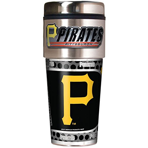 (Great American Products Pittsburgh Pirates 16oz. Stainless Steel Travel Tumbler/Mug)