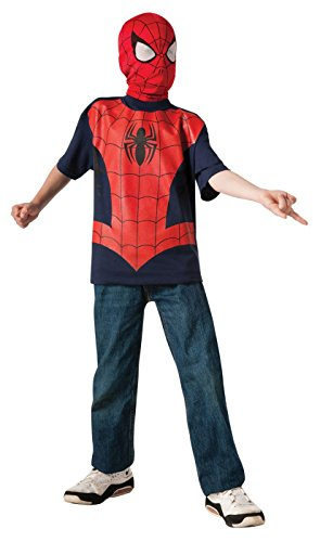 Rubie's Marvel Ultimate Spider-man T-Shirt and Mask, Child Medium - Child Medium One Color ()