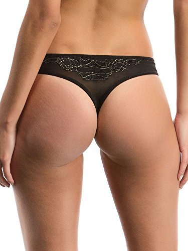 Bluebella Maddox 33799 Thong Brief Knickers - Black Gold USXX-Large